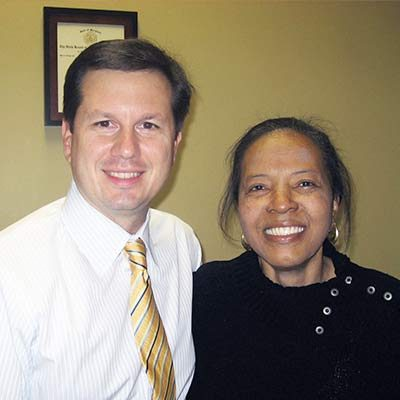 Chiropractor Catonsville MD Andrew Johnson with Patient